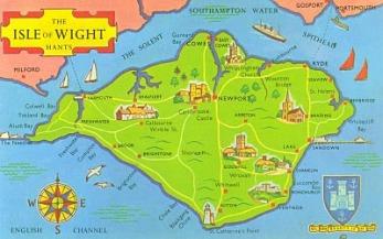 Resultado de imagen de map isle de wight